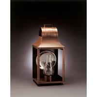 Northeast Lantern 9051-AC-CIM-CLR Livery 1 Light 20 inch Antique Copper Outdoor Wall Lantern in Clear Glass, Chimney, Medium