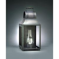 Northeast Lantern 9051W-DB-CIM-CLR Livery 1 Light 20 inch Dark Brass Outdoor Wall Lantern in Clear Glass, Chimney, Medium