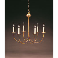 Signature 6 Light 23 inch Antique Brass Chandelier Ceiling Light