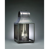 Livery 1 Light 24 inch Dark Brass Outdoor Wall Lantern in Clear Glass, Chimney, Medium