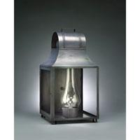 Northeast Lantern 9061-DB-CIM-CLR Livery 1 Light 24 inch Dark Brass Outdoor Wall Lantern in Clear Glass, Chimney, Medium