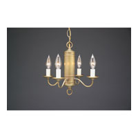 Signature 4 Light 13 inch Antique Brass Chandelier Ceiling Light