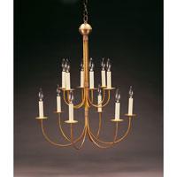 Northeast Lantern 912-AB-LT12 Signature 12 Light 24 inch Antique Brass Chandelier Ceiling Light