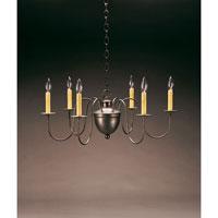 Northeast Lantern 913-DB-LT6 Signature 6 Light 26 inch Dark Brass Chandelier Ceiling Light