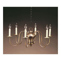 Signature 6 Light 26 inch Dark Antique Brass Chandelier Ceiling Light