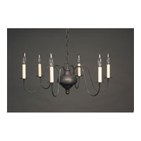 Signature 6 Light 26 inch Dark Brass Chandelier Ceiling Light