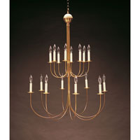 Signature 16 Light 38 inch Antique Brass Chandelier Ceiling Light