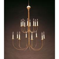 Northeast Lantern 916-AB-LT16 Signature 16 Light 38 inch Antique Brass Chandelier Ceiling Light