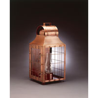 Northeast Lantern Livery 1 Light Outdoor Wall Lantern in Antique Copper 9251-AC-CIM-CLR