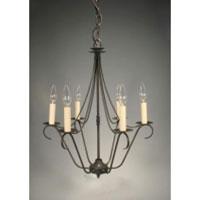 Northeast Lantern 929-DB-LT6 Signature 6 Light 19 inch Dark Brass Chandelier Ceiling Light in No Crystals