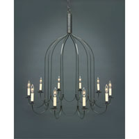 Signature 10 Light 36 inch Dark Brass Chandelier Ceiling Light