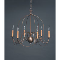 Northeast Lantern Signature 6 Light Chandelier in Antique Brass 940-AB-LT6 photo thumbnail