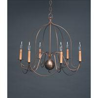 Northeast Lantern 940-AB-LT6 Signature 6 Light 26 inch Antique Brass Chandelier Ceiling Light