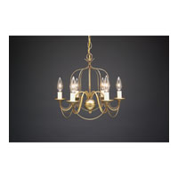 Signature 6 Light 15 inch Antique Brass Chandelier Ceiling Light