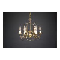 Northeast Lantern 942-AB-LT6 Signature 6 Light 15 inch Antique Brass Chandelier Ceiling Light