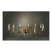 Northeast Lantern 951-AB-LT12 Signature 12 Light 50 inch Antique Brass Chandelier Ceiling Light