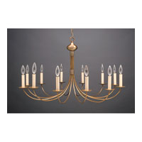 Signature 12 Light 34 inch Antique Brass Chandelier Ceiling Light