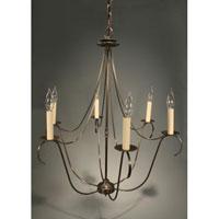 Northeast Lantern 959-DAB-LT6 Signature 6 Light 25 inch Dark Antique Brass Chandelier Ceiling Light in No Crystals