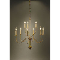 Signature 9 Light 27 inch Antique Brass Chandelier Ceiling Light
