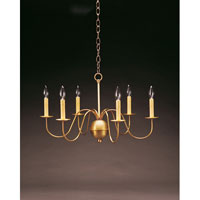 Northeast Lantern 969-AB-LT6 Signature 6 Light 26 inch Antique Brass Chandelier Ceiling Light