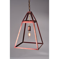 Appledore 1 Light 12 inch Antique Copper Pendant Ceiling Light in Clear Glass, Medium