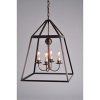 Northeast Lantern Appledore 4 Light Pendant in Dark Antique Copper 9732-DAC-LT904-NG