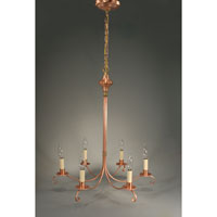 Signature 6 Light 23 inch Raw Copper Chandelier Ceiling Light