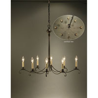 Signature 6 Light 24 inch Dark Brass Chandelier Ceiling Light in 8