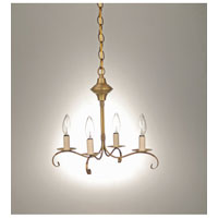 Signature 4 Light 16 inch Antique Brass Chandelier Ceiling Light