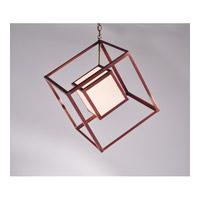 Northeast Lantern Tesseract 1 Light Pendant in Antique Copper CC14-7-AC-MED-WHT