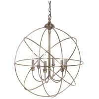 Signature 6 Light 24 inch Dark Antique Brass Chandelier Ceiling Light, Large