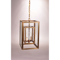 Transitional 2 Light 10 inch Antique Brass Pendant Ceiling Light in Clear Seedy Glass
