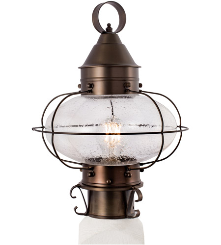 Norwell 1321 Br Se Cottage Onion 1 Light 15 Inch Bronze Outdoor Post Medium