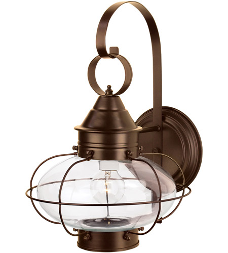 Norwell 1324 Br Cl Cottage Onion 1 Light 16 Inch Bronze Outdoor Wall Large