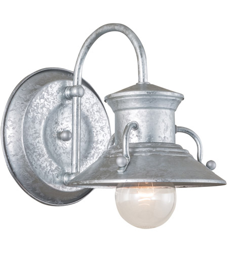 Norwell 5153 Ga Ng Budapest 1 Light 8 Inch Galvanized Outdoor Wall Small