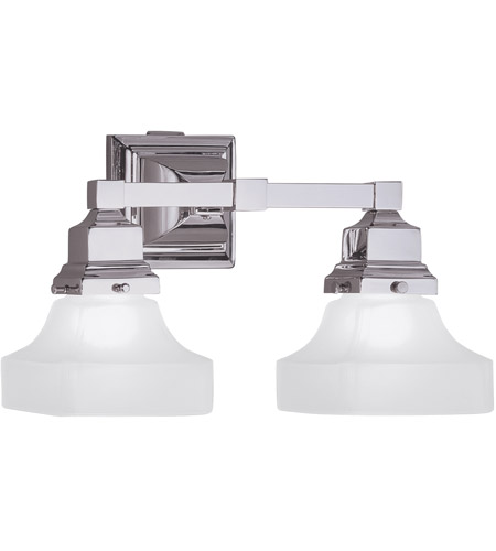 Norwell Chrome Glass Wall Sconces