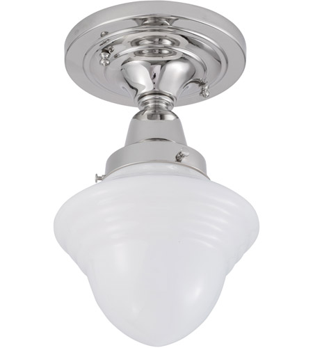Norwell 8201F-PN-AC Bradford 1 Light 7 inch Polished Nickel Indoor Flushmount Ceiling Light photo thumbnail