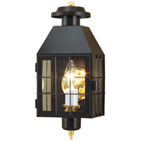 American Hertitage 1 Light 17 inch Black Outdoor Wall Lantern in Clear