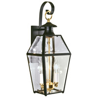 Olde Colony 2 Light 17 inch Black Outdoor Wall Lantern