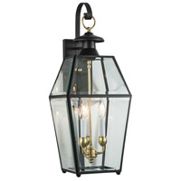 Olde Colony 3 Light 28 inch Black Outdoor Wall Lantern
