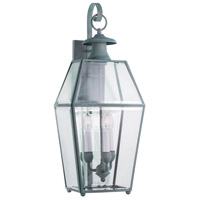Norwell 1067-VE-BE Olde Colony 3 Light 28 inch Verde Outdoor Wall