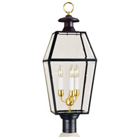 Olde Colony 3 Light 30 inch Black Outdoor Post
