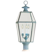 Olde Colony 3 Light 30 inch Verde Outdoor Post Lantern