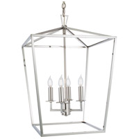 Cage 4 Light 18 inch Polished Nickel Pendant Ceiling Light, Medium