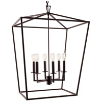 Cage 6 Light 24 inch Bronze Pendant Ceiling Light, Large