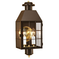 Norwell 1093-BR-CL American Hertitage 2 Light 22 inch Bronze Outdoor Wall in Clear