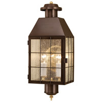 American Hertitage 2 Light 22 inch Bronze Outdoor Wall Lantern in Seedy