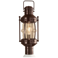 Seafarer 1 Light 21 inch Bronze Outdoor Post Lantern