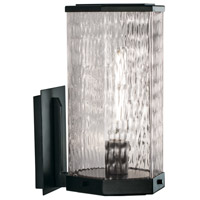 Norwell 1176-MB-WAV Polygon 1 Light 13 inch Matte Black Outdoor Wall Mount