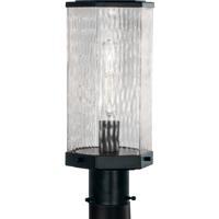 Norwell 1177-MB-WAV Polygon 1 Light 13 inch Matte Black Outdoor Post Light